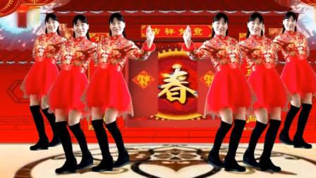 阿真广场舞《开门红》中老年的新春开工舞