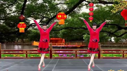 代玉广场舞《新年大吉》简单32步舞蹈附教学分解