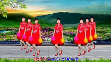 点击观看《河北青青广场舞《好运送给你》32步花球舞》