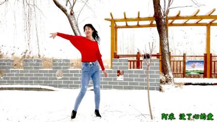 点击观看《阿采广场舞《广场舞》在雪中跳健身舞真美》