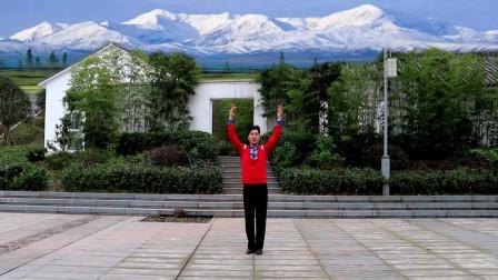 凤凰六哥广场舞《雪域赞歌》原创藏族舞分解教学