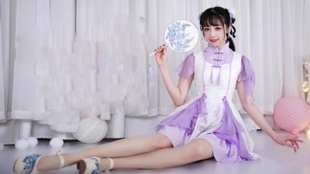 颜值满分的萌妹子《千里邀月》中国风的宅舞视频