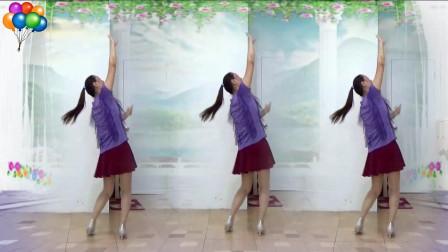 蓝莓思洁广场舞《远走高飞》非常适合初学者的16步动感步子舞视频