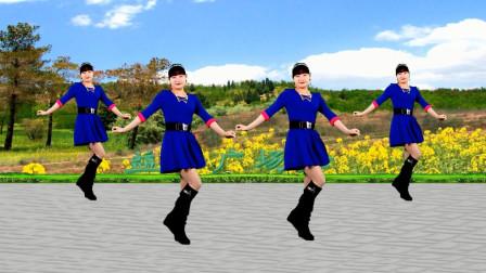 点击观看《益馨广场舞《油菜花之恋》零基础32步单人水兵舞视频》