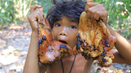 丛林美食,石板烤猪耳你吃过吗?看着就好吃口水直流!
