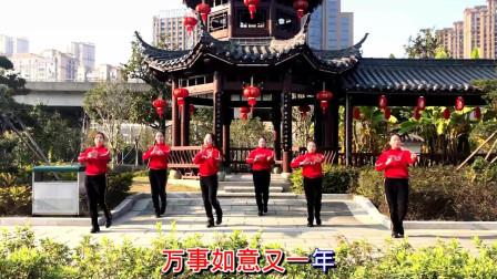 一群辣妈集中跳广场舞《拜新年》舞蹈视频