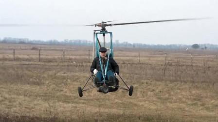 60岁农村老大爷自制直升机,一次可以飞行4个小时,800元就能造一架