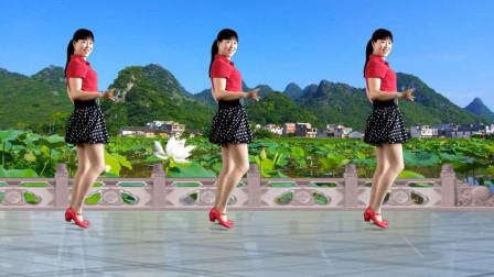 阿真广场舞《一曲相思》0基础动感恰恰舞风格舞蹈视频