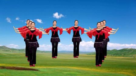 民族广场舞《火火的姑娘》草原歌曲,悠扬动听,舞蹈也好看!