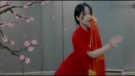 古风舞蹈《九儿》超好看!美女一身红衣,人美舞也美