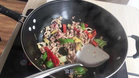 好吃美味的家常青椒肉丝,吃货党的不二上品!