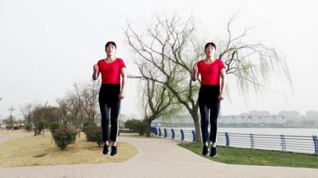 手舞足蹈广场舞《爱郎的心》简单易学,好听好看!