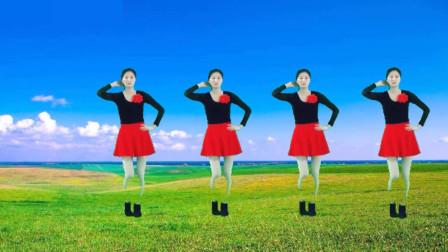 气质美女广场舞《相伴一生》音乐好听,舞姿活力好看!