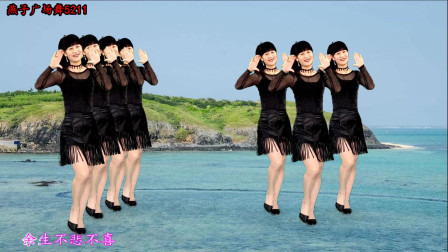 燕子广场舞5211《一曲相思》DJ版流行歌曲 演唱:半阳 时尚简单32