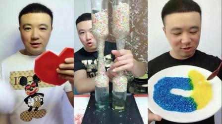 吃货达人:吃红色爱心巧克力,吃蓝色颗粒巧克力,看着真好吃!