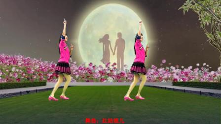 情歌广场舞《红姑娘儿》唱出满满的思乡之情简单好看