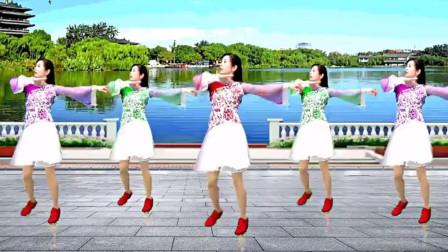 游城彩蝶翩翩广场舞站着等你三千年超美的形体舞