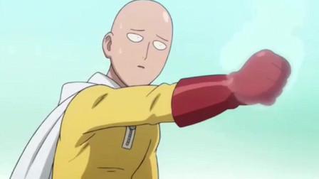 一拳超人:首次现身,轻轻一拳就解决了战斗
