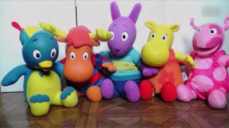 花園小尖兵玩偶毛绒玩具 儿童玩具 动漫