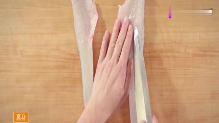 日本美食大厨现场展示牛尾鱼分解方法而你学会了吗