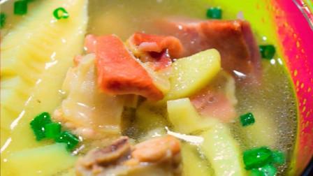 """红楼梦美食——烫到了宝玉的火腿鲜笋汤,扬州人称""""一啜鲜"""""""