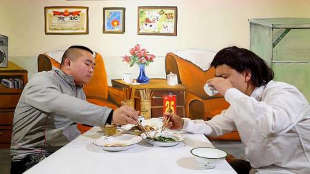 二货兄弟想学憨头吃霸王餐,岂料偷鸡不成蚀把米!太搞笑了