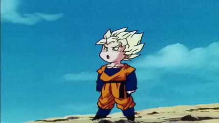龙珠:好可爱!悟天都变成超级赛亚人了还不会飞