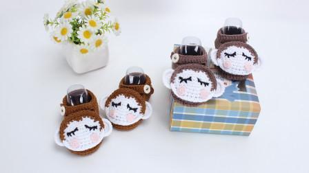 30种宝宝鞋编织教程小猴子鞋子动物鞋子钩针编织视频