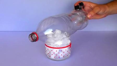 如何利用塑料瓶制作一个小巧的冷风机,手工教程!