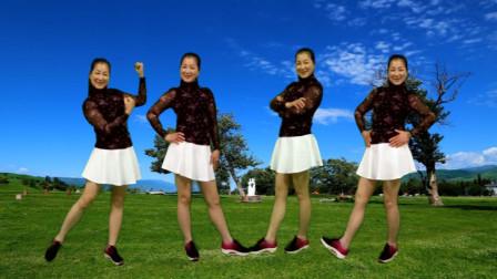 草原情歌广场舞《姑娘我等你》简单欢快32步!