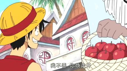海贼王:黑胡子手下的爆炸苹果,二货路飞拿起来就是吃