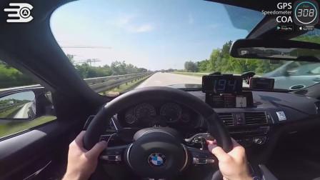土豪開寶馬M3上德國無限速高速,沒一輛車敢擋道的