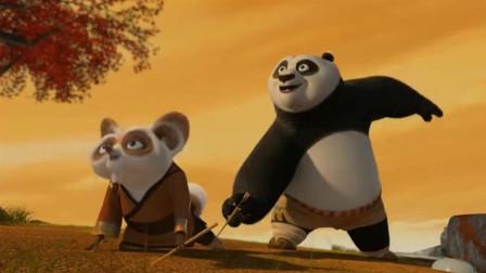 功夫熊猫:阿宝终于领悟到了功夫的真谛,一代功夫大师从这一刻诞生