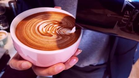 咖啡拉花美食我要粉丝,我要上热门有没有治愈你的心