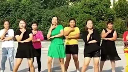 大妈美女齐跳经典广场舞自由飞翔帅气时尚