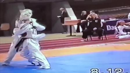 珍贵的跆拳道竞技前期比赛视频