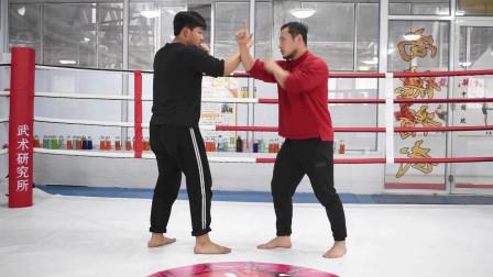 内家拳松腰落胯发力饱满,形意老师讲解长短劲在武术实战中的区别