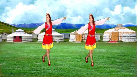 优美藏族广场舞《一朵云在蓝天飘过》飘走我的深情诉说!