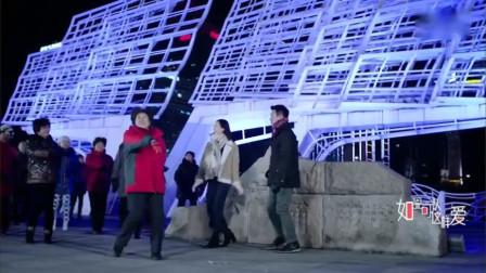 美女与老公散步,在广场上跳广场舞,畅想未来
