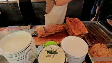 舌尖上的美食:天津肉最多的牛肉馅饼!19元一个,半斤肉馅!你能吃几个?