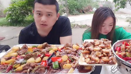 老哥做美食,一桌好菜美食,味道很好。