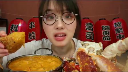 舌尖上的美食:上海美女大口吃印度饺子,蘸着咖喱大口往嘴里塞,吃的真是带劲
