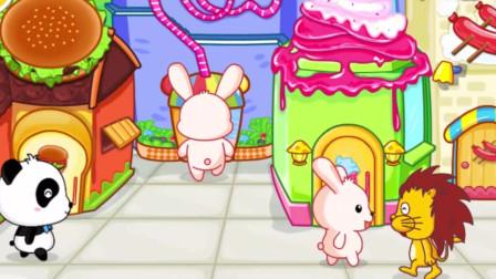 宝宝巴士少儿动画:宝宝美食街,最适合吃货去的地方,那就是美食街了