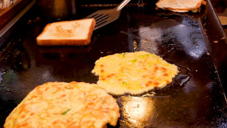 韩国街头的鸡蛋吐司,简单却美味,这才是韩国美食正确打开方式!