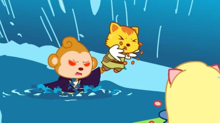 猫小帅故事池塘里的水妖精
