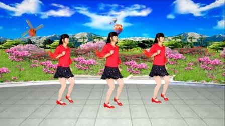 广场舞《花蝴蝶》歌曲欢快动感,广场舞