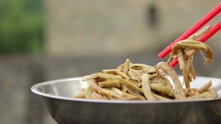 舌尖上的美食:山区里的贵族菜,一盘香喷喷的龙须菜