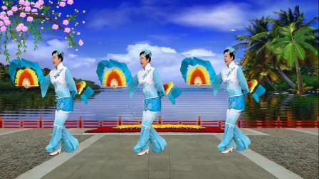 双扇舞《欢聚一堂》一曲喜庆的舞蹈,70后都喜欢!