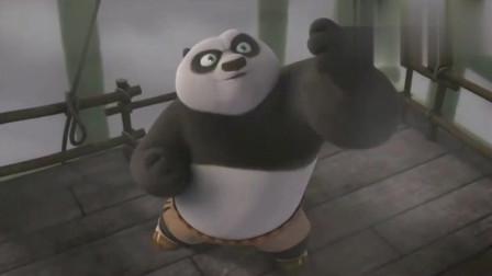 功夫熊猫:阿宝击败反派后,想不到拿着避雷针,下一面意外了