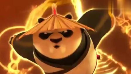 功夫熊猫:阿宝真是帅不过三秒,气功大成,大战牛魔王天煞